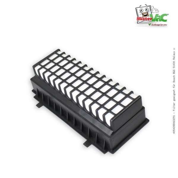 Filter geeignet für Bosch BGS 51430 Relaxx x