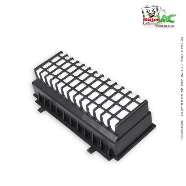 Filter geeignet für Bosch BGS 51410 Relaxx x,00577281