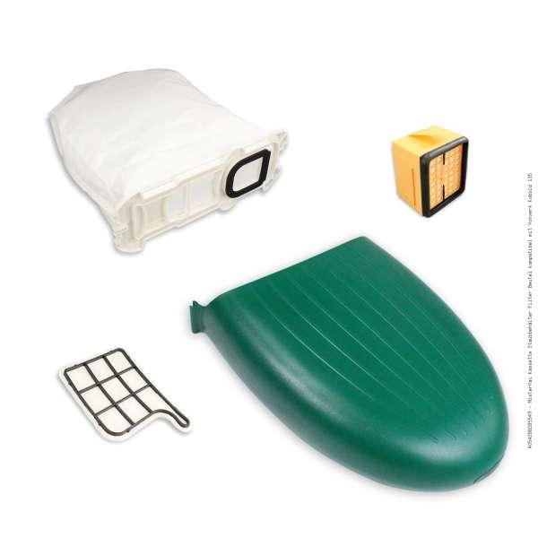 MisterVac Kassette Staubbehälter Filter Beutel kompatibel mit Vorwerk Kobold 135