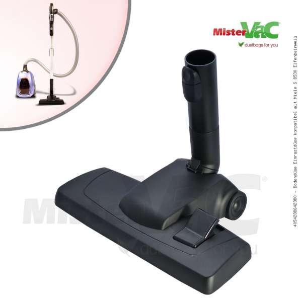 Bodendüse Einrastdüse kompatibel mit Miele S 8530 Elfenbeinweiß