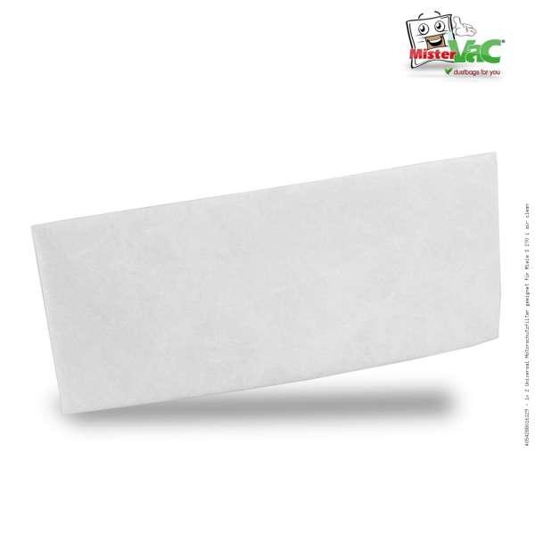 1x 2 Universal Motorschutzfilter geeignet für Miele S 270 i air clean