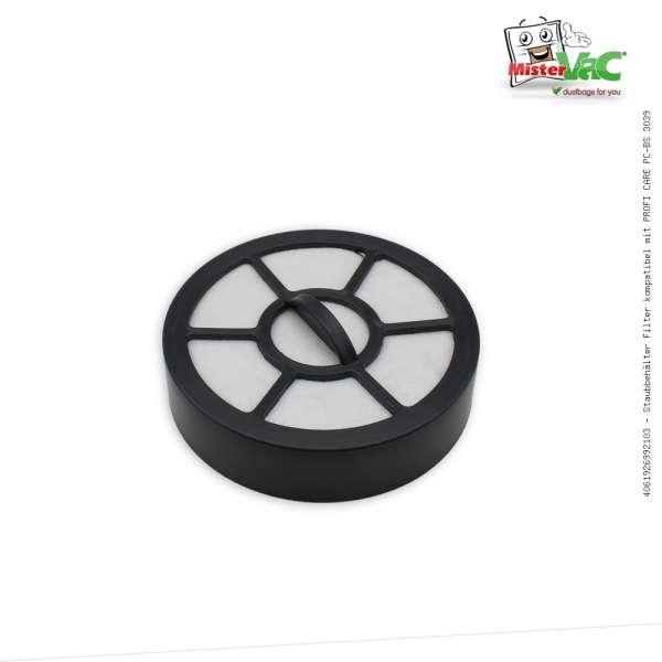 Staubbehälter Filter kompatibel mit PROFI CARE PC-BS 3039