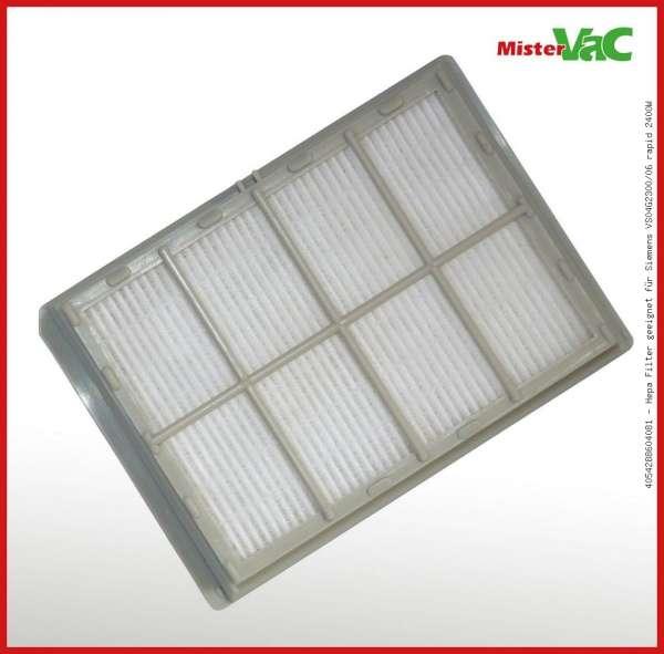 Hepa Filter geeignet für Siemens VS04G2300/06 rapid 2400W
