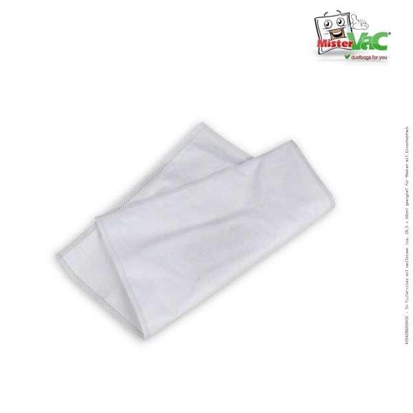 5x Filtervlies mit meltblown (ca. 28,5 x 68cm) geeignet für Masken mit Einschubfach