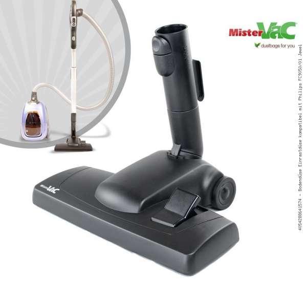 Bodendüse Einrastdüse kompatibel mit Philips FC9050/01 Jewel