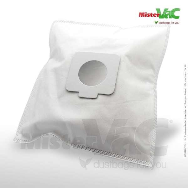 Staubsaugerbeutel kompatibel mit Moulinex Compact 1350 electronic Typ W4 Bild: 1