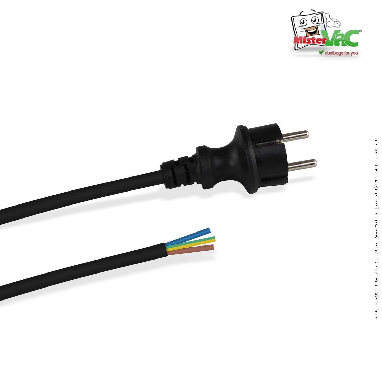 Kabel Zuleitung Strom Reparaturkabel geeignet für Nilfisk ATTIX 33-2H IC