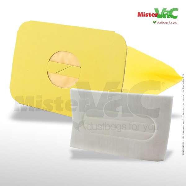10x Staubsaugerbeutel + Hygienefilter geeignet für Electrolux D710
