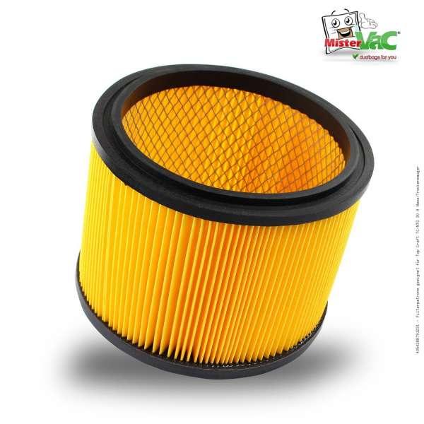 Filterpatrone geeignet für Top Craft TC-NTS 30 A Nass/Trockensauger