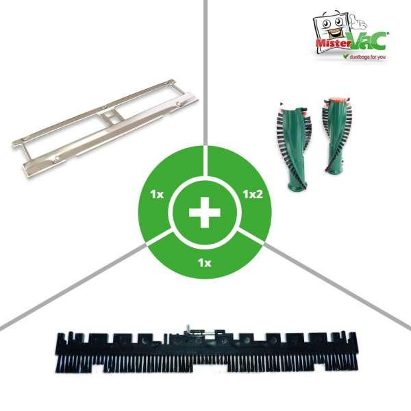 Set mit Bürsten, Bodenblech geeignet für Vorwerk EB 350, 351