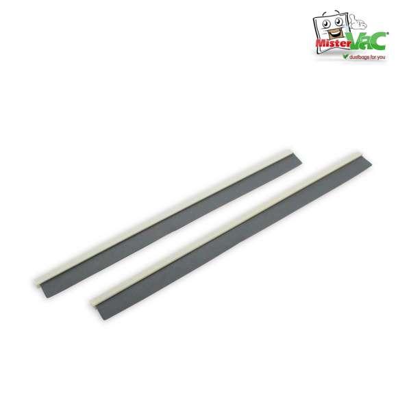Gummileisten-Set mit Kunstofflippe 36 mm 55 Grad für Bodendüse 2233