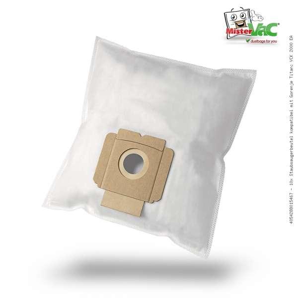 Staubsaugerbeutel kompatibel mit Gorenje Titan: VCK 2000 EA Bild: 1