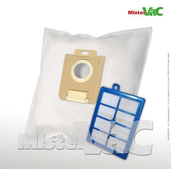 10x Staubsaugerbeutel + Filter kompatibel mit Philips FC8728/09 Performer Expert