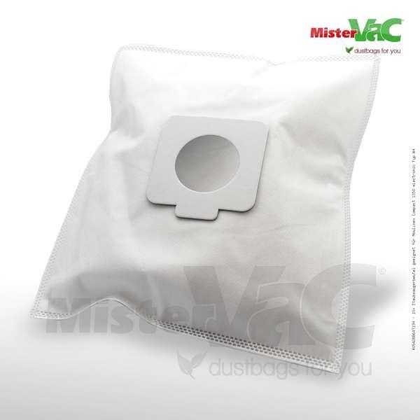 Staubsaugerbeutel geeignet für Moulinex Compact 1350 electronic Typ W4 Bild: 1