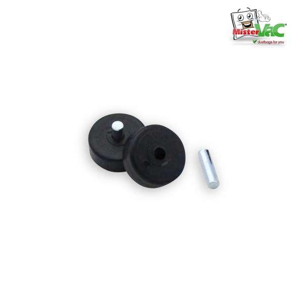 Räderset aus PVC mit Achsen geeignet für unter anderem Düse 2233