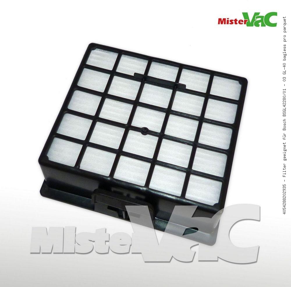 Filter geeignet Bosch BSGL 42282//01-03 GL-40 bagless pro parquet