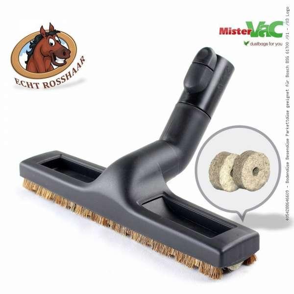 Bodendüse Besendüse Parkettdüse geeignet für Bosch BSG 61700 /01 - /03 Logo