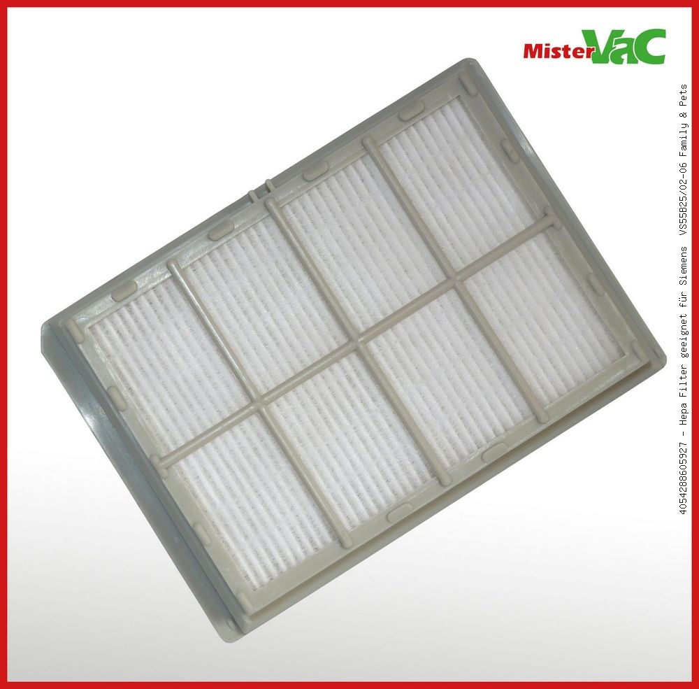 Hepa Filter geeignet Siemens  VS55B25//02-06 Family /& Pets
